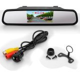Красочные видео парковочный датчик с TFT ЖК-дисплей отображения наружного зеркала заднего вида