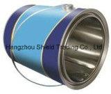 [2.5ل] مستديرة وعاء صندوق قصدير يستطيع معدنة مع غطاء