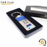 Alliage de zinc métal personnalisée et pu la chaîne de clés en cuir (Y03647)