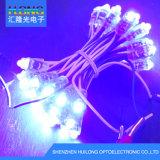 luz do pixel do diodo emissor de luz das cores da luz sete da corda de 12mm RGB