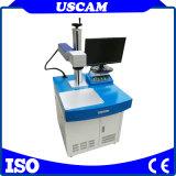 20W Fibre станок для лазерной маркировки размера таблицы с системой автоматического вращения стола