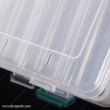 14 compartiments doublent les cadres de palan en plastique clairs transparents dégrossis d'attrait de pêche