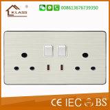 Interruptor de la placa del espacio en blanco doble de la cuadrilla de la pared 2