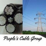 0.6/1kv 11kv, Kurbelgehäuse-Belüftung 33kv/XLPE/PET obenliegende elektrische Übertragungs-zusammengerolltes Kabel IsolierluftaBC