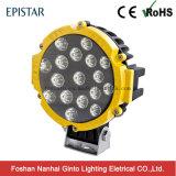Для тяжелого режима работы в 7 дюйма 51W (17ПК*3W) Epistar круглый светодиодный индикатор рабочего освещения погрузчика (GT1015-51W)