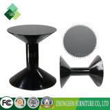 現代様式の黒のホテルのための円形のガラスコーヒーテーブルデザイン
