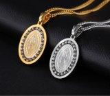 De Gift van de Juwelen van de Halsband van de Ketting van de Tegenhanger van het Medaillon van het Zirkoon van de Halsbanden van de Mensen van het roestvrij staal Onze Dame van Guadalupe de Giften van Halsbanden