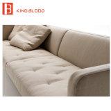 Negozi di mobili stabiliti di colore del sofà beige moderno del tessuto sulla vendita
