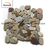 El color de mezcla barata en rodajas, guijarro al aire libre de mármol Azulejos Azulejos de mosaico de piedra de guijarros Mat