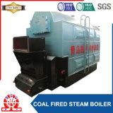 Caldeira de vapor zero de carvão da grelha da corrente da poluição com coletor de poeira, 10ton