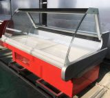 Новая конструкция с открытым верхом свежего мяса на дисплее блока охлаждения