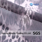 100% Polyester, 20*60 Organza Fabric with Leopard Printed for Girl' S Summer Cloth