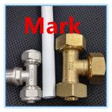 Banheiro de bronze da imprensa dos encaixes da compressão para a tubulação de água quente