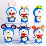Симпатичные игрушки винила Doraemon пластичные для малышей