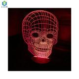 점차적인 변경 색깔 LED 밤 빛을%s 가진 3D 테이블 램프
