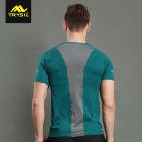 Gli uomini Plain le calzamaglia pure della maglietta di sport della camicia
