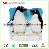 Magneti del frigorifero della resina dell'amante del pinguino dell'OEM per l'accumulazione del ricordo