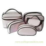 Комплект мешка Toiletry глянцеватого состава PVC патента поверхности зеркала PU Vinylic кожаный моя косметический