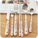 Вилка ножа и комплект Cutlery нержавеющей стали ложки роскошный