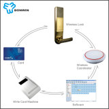 O telefone móvel de controle remoto do portátil da rede destrava o fechamento de porta do hotel