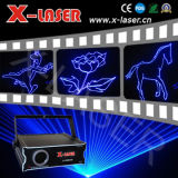 Étape de la lumière laser bleu Animation projecteur lumière romantique
