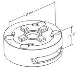 Sistema 3r Manual compatível com o Mandril de aço inoxidável para tornos CNC Máquina (bloqueio da alavanca)