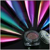 Clavos del espejo del Multi-Cromo del arco iris, pigmento polaco del gel, polvo del camaleón