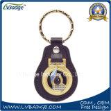 승진 제 2 금속 로고 금속 열쇠 고리 가죽 열쇠 고리