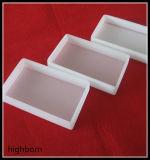 正方形の乳白色の白い水晶ガラスシート