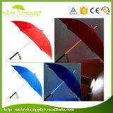 Зонтик руководства открытый прямой с светом на ручке