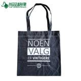 Серый черный 100% натуральный хлопок сумку для персонализированной продуктовый футляры