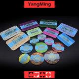 Cristal acrílico / fichas de póquer bronceado de la corona circular Casino Chips pueden personalizado (YM-CP003)