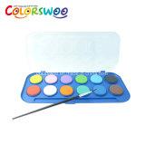 L'arte fornisce la torta di colore di acqua di 24*2.1cm per la pittura e l'illustrazione W2124