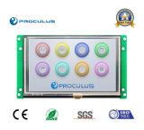 Intense luminosité, '' TFT LCD 5 avec le contact Screen+Ttl/RS232 de Rtp/P-Cap