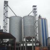 На ферме стали для хранения зерна в бункере