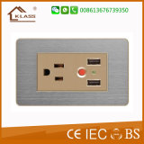 2gang 2方法電力の押しボタンの接触壁スイッチ