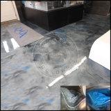 Piso en 3D de pigmento metalizado Recubrimiento en polvo Epoxi Metálica revestimiento de piso