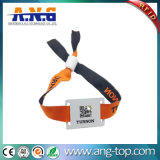 Wristband tecido tela do festival MIFARE RFID