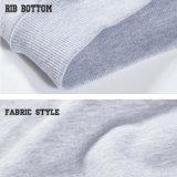 Felpa de algodón personalizadas Crewneck Polyetser Raglan Sudadera hombres