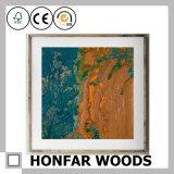 Картина искусствоа белки с деревянной рамкой для искусствоа стены