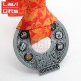 鎖が付いている卸し売り安いカスタムロゴの金属賞のドッグタッグメダル