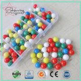Pin Pin красивейшего нажима карты цветов пластичный круглый головной стальной прямой