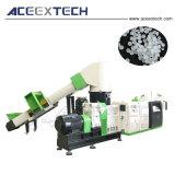再ペレタイジングを施す機械をリサイクルする不用な泡フィルム
