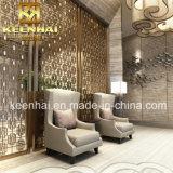 Le cuivre métallique en acier inoxydable de l'écran du diviseur de la salle de pliage (KH-RD010)
