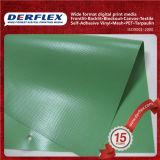 Materiale del rullo della tela incatramata del PVC della rete fissa dell'olio