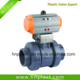 전기 Motorized Actuator PVC Plastic Ball Valve
