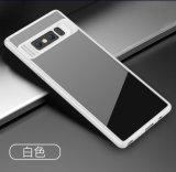 Cas hybride transparent de luxe de PC+TPU pour la couverture de la note 8 de galaxie de Samsung