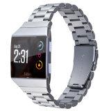 Cinta de relógio de aço inoxidável para troca iónica Fitbit Pulseiras, para Fitbit Ionic Assista de aço da Correia