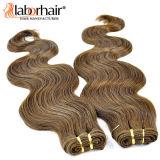 Unprocessesd peruanische Jungfrau-Haar-Extensionen gerader Ombre Menschenhaar-Einschlagfaden