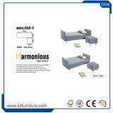 Salle de séjour de grande taille de coupe cuir synthétique Canapé-lit incurvée